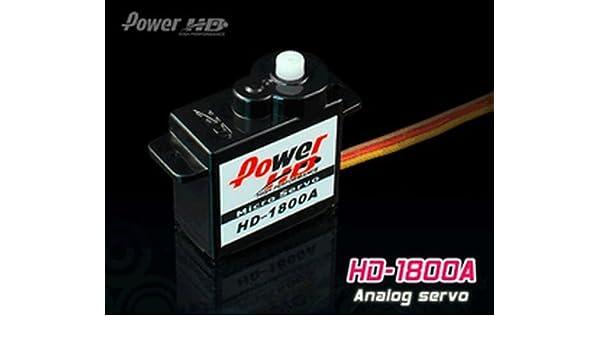 PowerHD HD-1800A Micro Analog Servo 8g 1.3kg 0,08sec 4,8V-6V