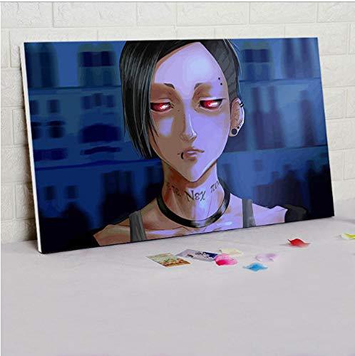 asd137588 Tokyo Ghoul DIY Färbung Durch Zahlen Japan-Artkarikaturplakat, Das Digitale Farbe Durch Zahlen Anime-Plakate Keinen Rahmen Malt - Japan Anime-kunst-plakat