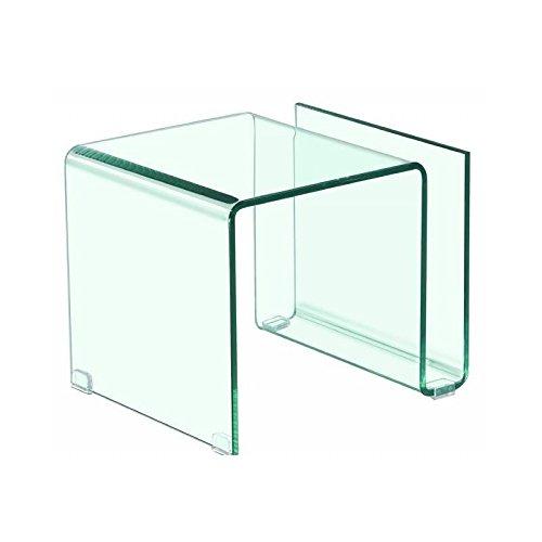 KITKAY Mesita, Mesa Auxiliar de Cristal Transparente doblado con ...