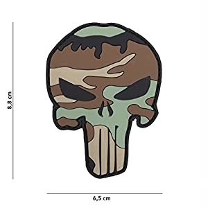 Patch 3D PVC Punisher CCE / Cosplay / Airsoft / Camouflage