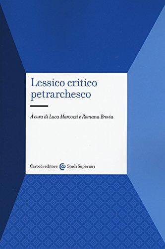 Lessico critico petrarchesco