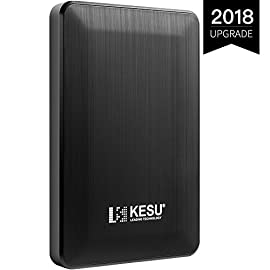"KESU 2,5"" 160GB Ultra Slim Hard Disk Esterno Portatile USB3.0 SATA HDD Storage per PC, Mac, Desktop, Laptop, MacBook, Chromebook (Nero)"