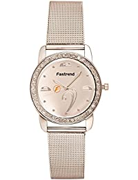 Fastrend Quartz Ladies Watch - Stainless Steel Analog Watch For Women - Round And Silver Wrist Watch
