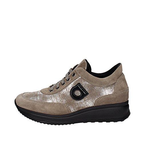 Agile Par Rucoline 1304 A Microcanvas Argent Noir, Sneaker Donna Argento