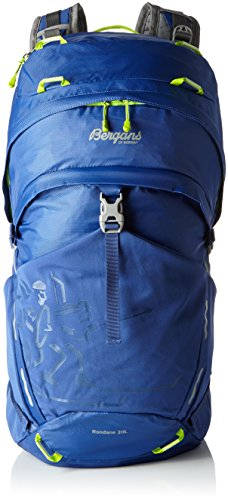 Bergans Rucksack Rondane, Blue/NeonGreen, 55 x 40 x 30 cm, 30 Liter, 4654