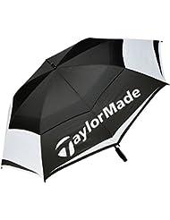 """TaylorMade TM Tour Double Canopy Paraguas de Golf, Unisex Adulto, Negro / Blanco / Gris, 64"""""""