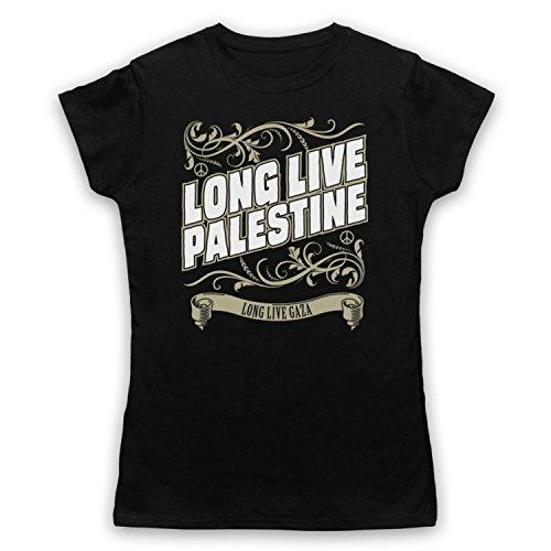 Long Live Palestine Long Live Gaza Damen T-Shirt Schwarz