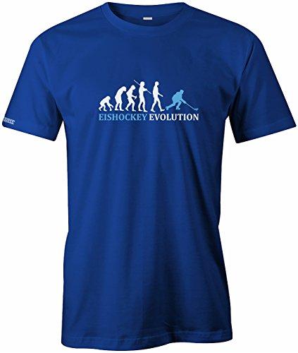 Jayess Eishockey Evolution - Herren T-Shirt in Royalblau by Gr. L
