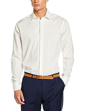 Seidensticker Herren Smoking Hemd Tailored Langarm mit Kent-Kragen bügelfrei
