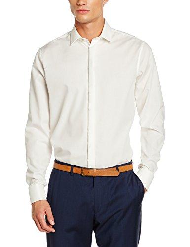 Seidensticker Herren Smoking Hemd Tailored Fit – Bügelfreies, schmal tailliertes Hemd mit Kent-Kragen und Umschlagmanschette – Langarm – 100% Baumwolle (Smoking Baumwolle)