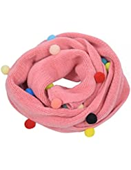 Hosaire Bebé Pañuelos de Cuello del Hacer Punto Mantener Caliente del Bebé Unisex de la Bufanda para Niños Niñas (Rose 2)