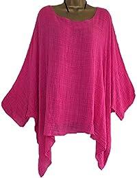Primavera Otoño Mujeres Tops Moda Cuello Redondo Murciélago Mangas Camisetas Blusa Shirt Casual Suelto T-