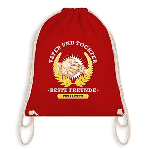 Vatertag - Vater und Tochter - beste Freunde fürs Leben - Turnbeutel I Gym Bag Rot