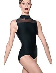Wear Moi Lys Leotardo Mujer, Mujer, color negro, tamaño medium