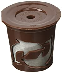 Cafefill Keurig K Cup Reusable Refillable Coffee Filter Pod (1-Unit), Brown