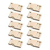 swiduuk Super Strong Haltbarkeit 10025mm Gurtband verstellbar Kunststoff Schließe Seite Quick Release Schnallen, plastik, khaki, Einheitsgröße