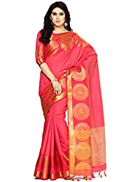 Mimosa By Kupinda Women's Tussar Silk Saree Banarasi Style (Latest Designer Sarees /Party Wear Sarees /New Collection...