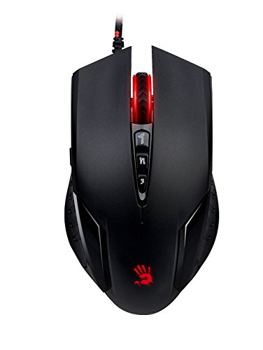 A4 Tech Bloody V5Ma Gaming Mouse 3200 DPI con Metal Glide, Nero