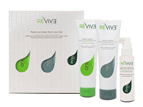 Kit trattamento shampoo per anticaduta dei capelli revive procare - sistema in tre parti, per l'anticaduta dei capelli, che rinnova il cuoio capelluto - senza parabeni, senza solfati - reviv3 procare