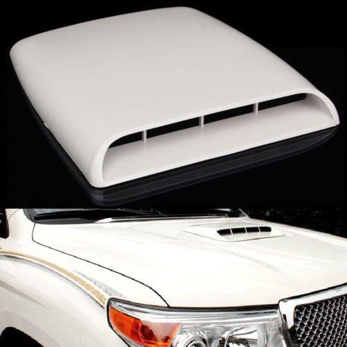 Toma de aire universal decorativa para techo o capó, de color blanco