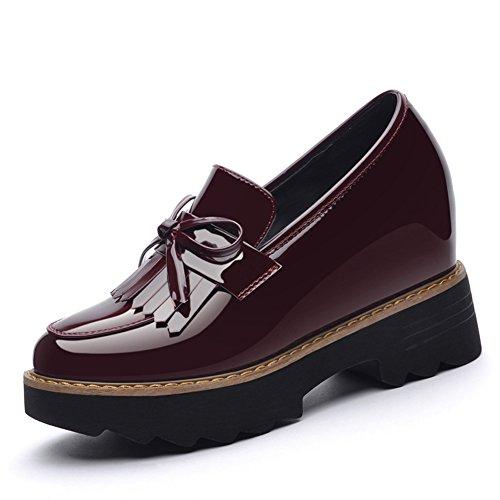 Scarpe Da donna.,Studentesse Scarpe,Altezza Interna Di Spessore Inferiore Superficiale Scarpe Bocca B
