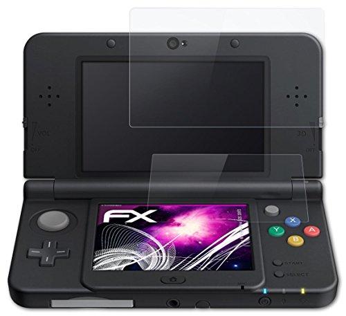 atFoliX Lámina Protectora de Cristal Nintendo New 3DS (2015) Película Vidrio - Set de 1 - FX-Hybrid-Glass