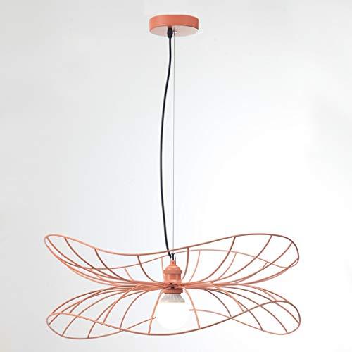 LED Kronleuchter Hut Form dekorative Kronleuchter Restaurant Bar Atmosphäre Lampe 60 * 25cm rosa SPFOZ -