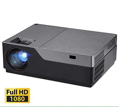 AI LIFE Full HD-Projektor 300 Zoll Heimkino 1920 x 1080 P LED-Projektor-Unterstützung 6000 Lumen für Home Entertainment Games-Partys -