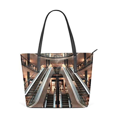 xcvgcxcbaoabo Mode Handtaschen Einkaufstasche Top Griff Umhängetaschen Escalator Picture one shoulder handbag leather Hand Bag -