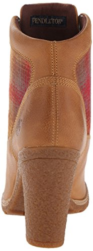 Timberland Glancy Fabric and Leather Ladies Heel Boot Hellbraun (A11TG)
