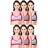 Caracal Sports Bra for Women's for Daily Workout Gym Wear Seamless Free Size