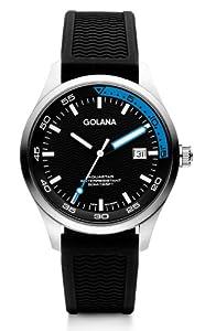 Reloj Golana AQ400-3 Aqua Three Hands con mecanismo de cuarzo para hombre (esfera multicolor y correa negra de goma)