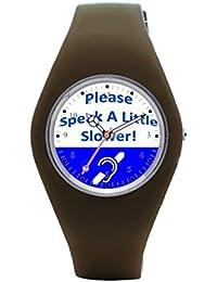 Best Montre bracelet rigide de voyage audience Montre de silicone pour homme 995242b2ea9