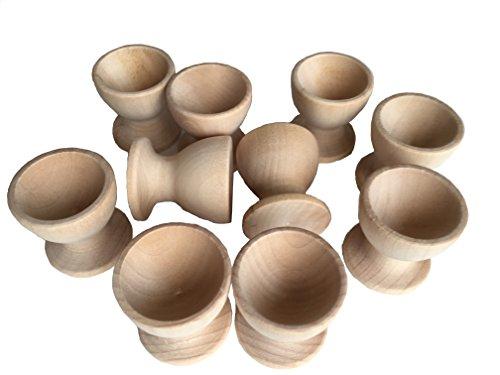 Preisvergleich Produktbild 10 Stück Holz Eierbecher Eierhalter Eierständer zum Bemalen von MEIERLE & Söhne