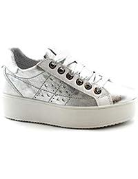 new style 7bd17 27178 IGI   CO 3155911 Argent Chaussures Femme Baskets Plateformes À Lacets ...