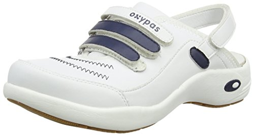 Oxypas Unisex-Adult Cleo Clogs Blue/Blue 3 UK, 37 EU Blau / Blau