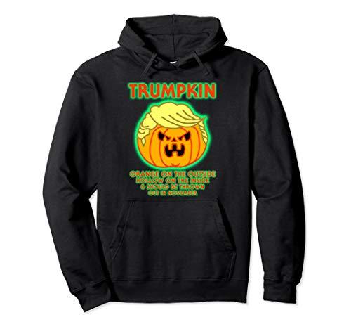 Donald Trumpkin Kostüm - Halloween Trumpkin Funny Donald Trump Kürbis Politische Meme Pullover Hoodie