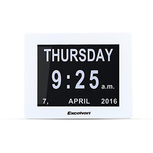 Excelvan 8' Calendario Sveglia Digitale Orologio da Tavolo Digitale con LED Oscuramento Automatico