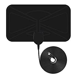 TV Aerial, Indoor Freeview TV Aerial, VicTsing 0.5mm Ultra-Thin Indoor Amplified Digital TV Aerial HDTV Antenna, 10 FT Long Cable and Optimized Butterfly-Shaped Picture for Stronger Reception