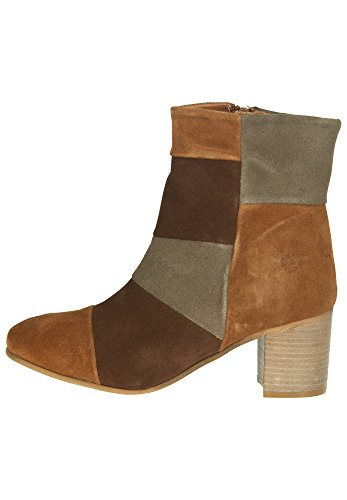 APPLE OF EDEN Damen Lederstiefelette LUQUE cognac/chocolate/caribou
