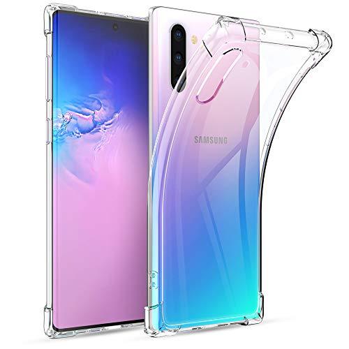 Joyguard Cover Samsung Galaxy Note 10, Custodia Samsung Galaxy Note 10 Trasparente Silicone TPU Antiurto AntiGraffio Antiscivolo Cover per Samsung Galaxy Note 10 - Trasparente