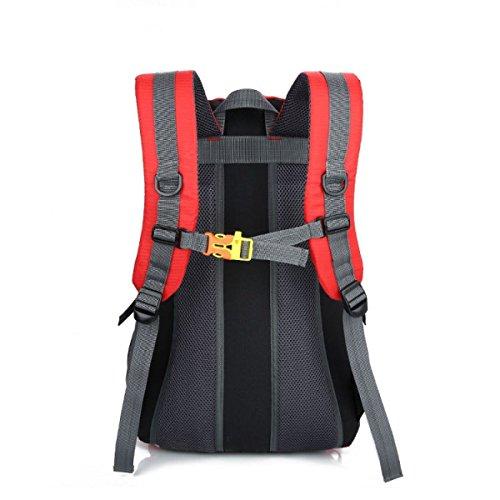 LQABW Schulter-Bergsteigen Berufssport 55L Outdoor-Freizeit Reisen Wandern Wasserdichte Tasche Rucksack Red