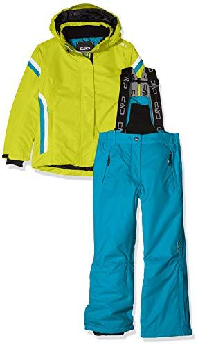 CMP Feel Warm Flat, Set Giacca E Pantaloni Bambine e Ragazze, Limeade, 128