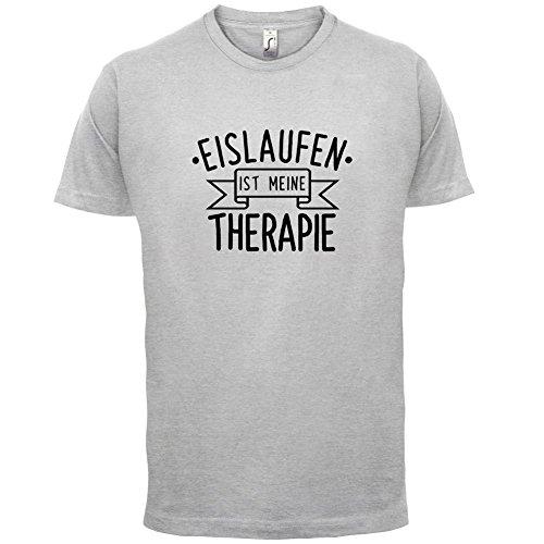 Eislaufen ist meine Therapie - Herren T-Shirt - 13 Farben Hellgrau
