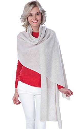 CASHMERE 4 U 100% Kaschmir Umhang - Extra Langer Schal - Strickschal für Damen