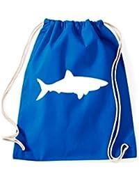 Turnbeutel; Tiermotiv Hai, Weißer Hai, Meerestier; Viele Farben