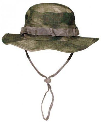 US GI Buschhut, mit Kinnband, GI Boonie, R/S, HDT-camo FG Größe: XL (Beanie Hüte Mit Krempe)