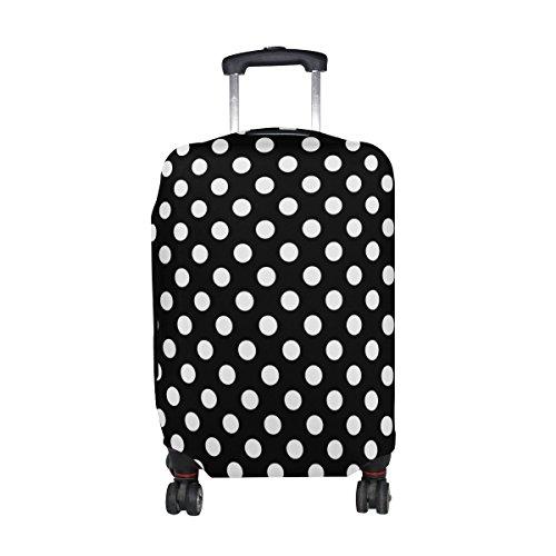 ALAZA Clásico Negro lunar blanco y cubierta equipaje cabe 22-24 pulgadas maleta de viaje Spandex protector