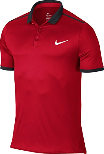 Nike Herren Advantage Solid Polo Men Oberbekleidung, Dunkelrot, M (Solid Polo-pullover)