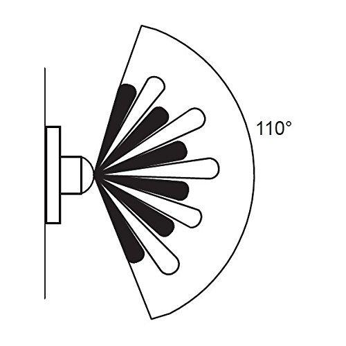 modern black external up  down outdoor wall light  u2013 pir motion sensor detector  u2013 ip44 rated